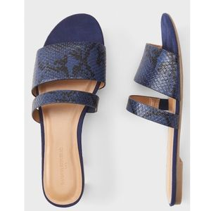 NWT Banana Republic double strap sandals